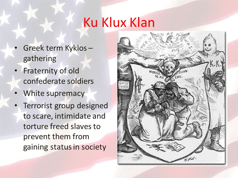 Ku Klux Klan Greek term Kyklos – gathering
