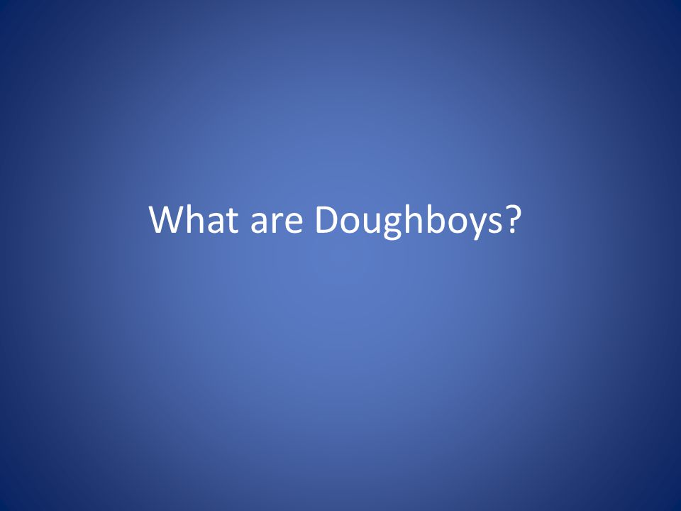 What are Doughboys