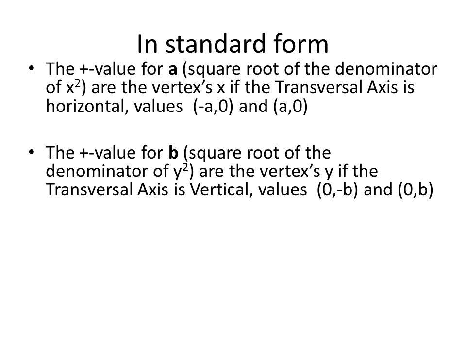 In standard form