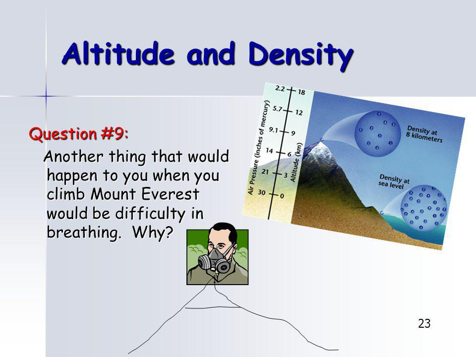 Altitude and Density Question #9: