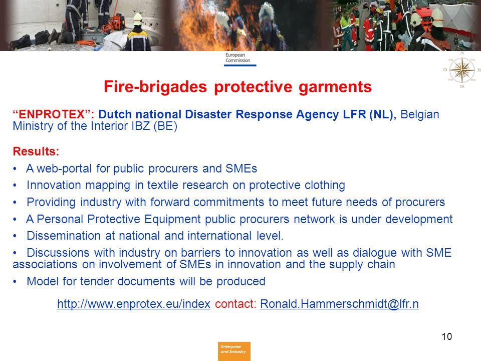 Fire-brigades protective garments