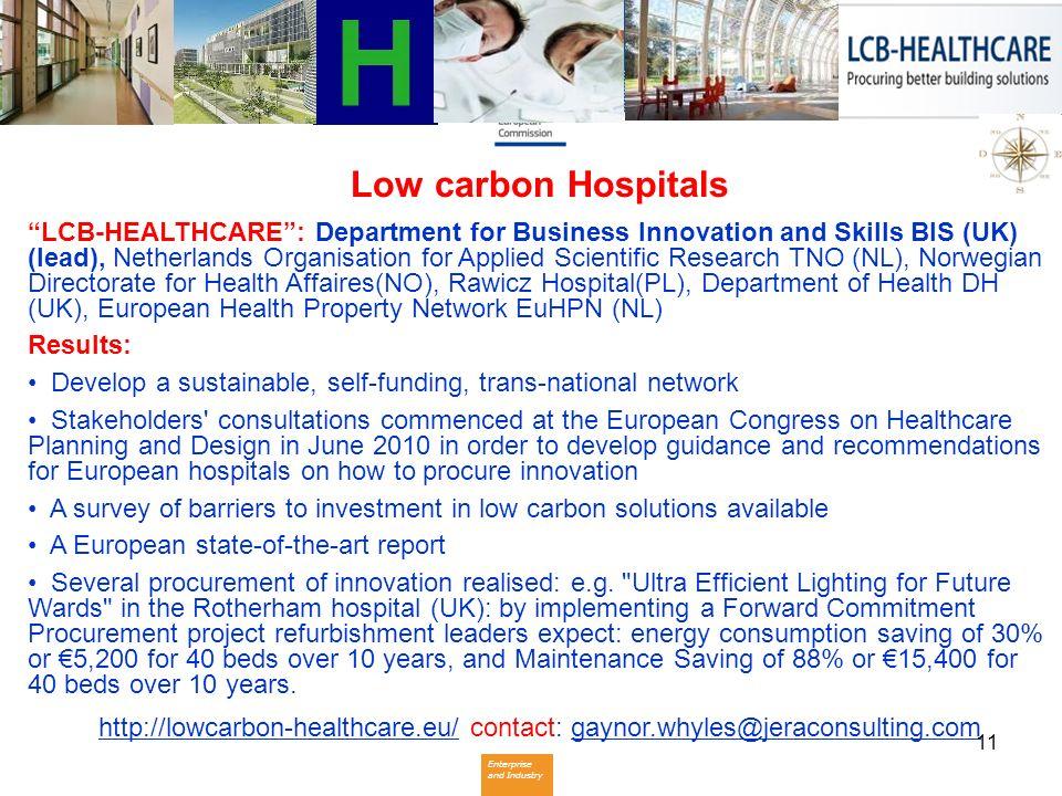 Low carbon Hospitals