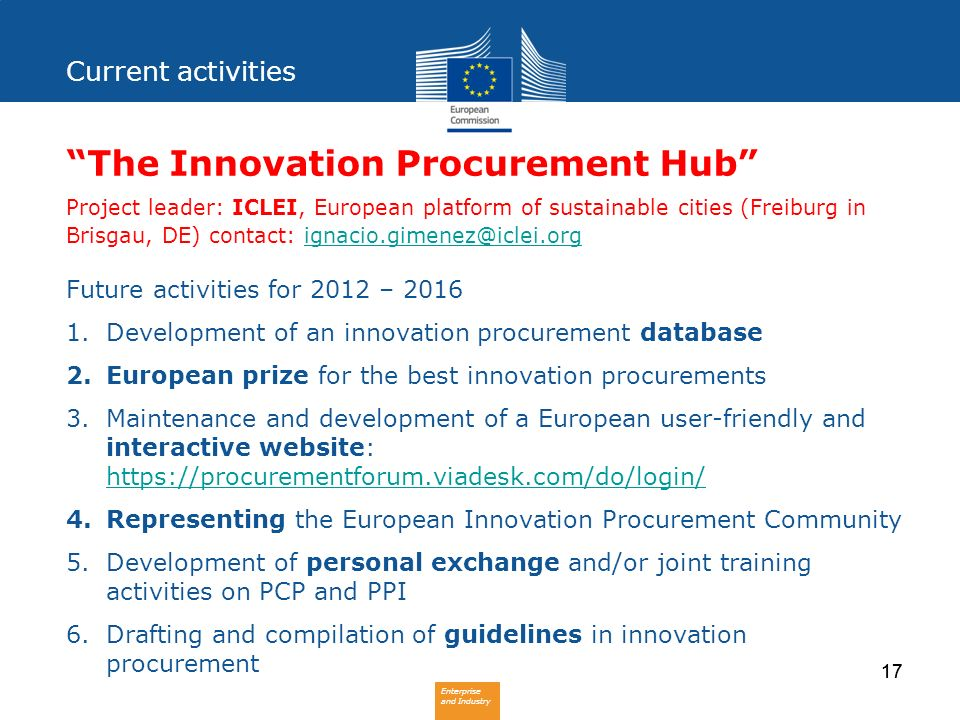 The Innovation Procurement Hub