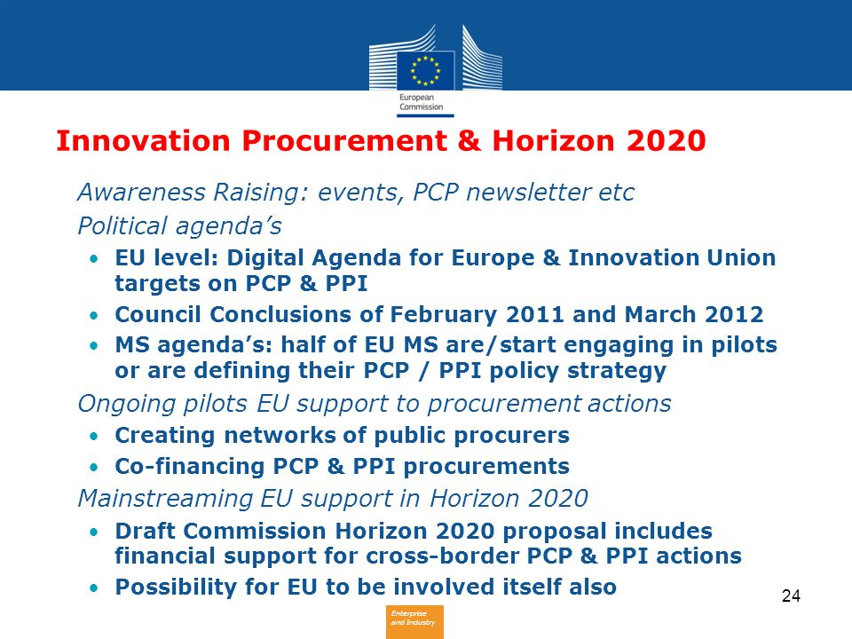Innovation Procurement & Horizon 2020