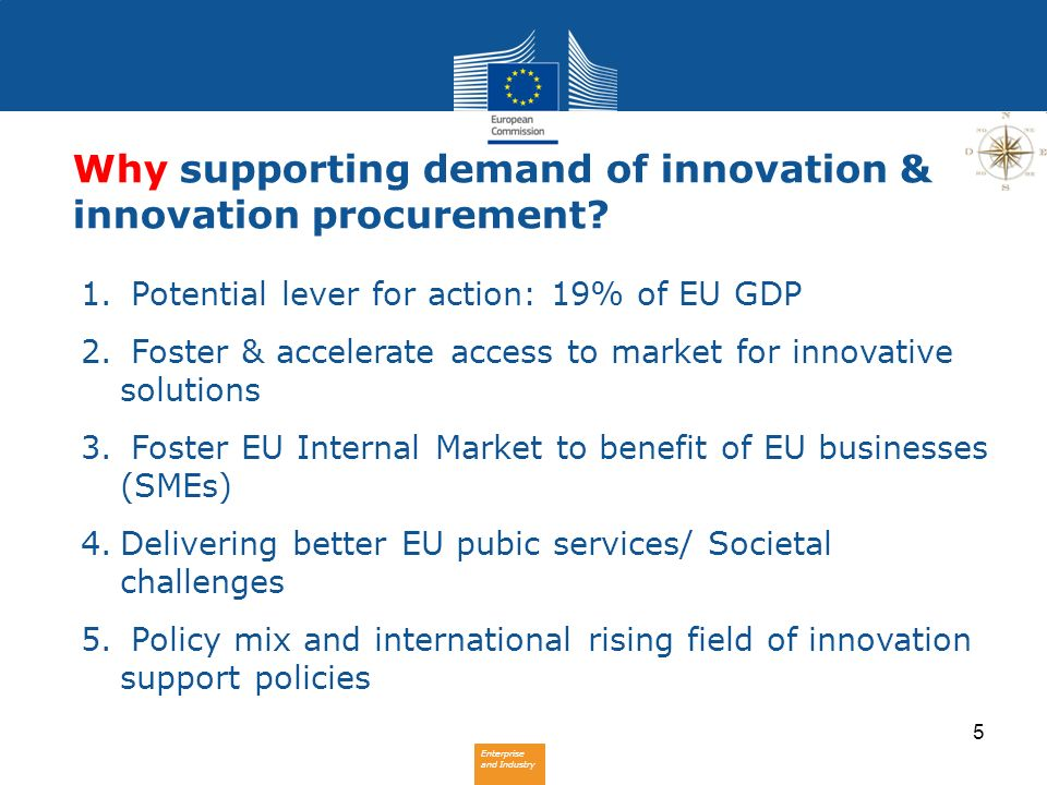 Why supporting demand of innovation & innovation procurement