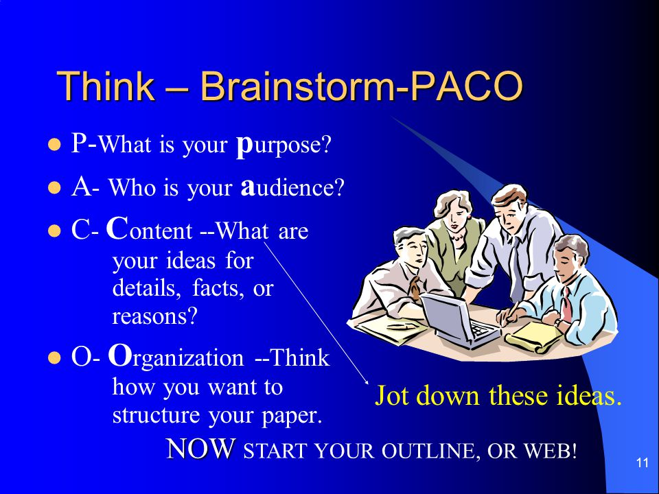 Think – Brainstorm-PACO