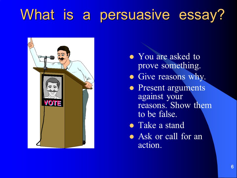 Types Of Persuasive Essays