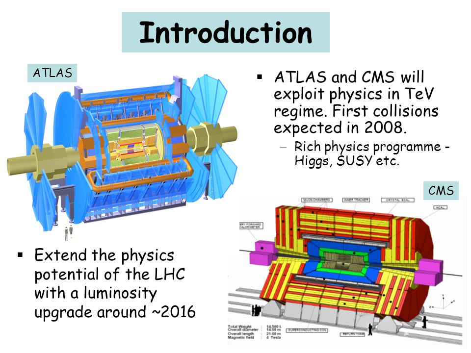 Introduction ATLAS. ATLAS and CMS will exploit physics in TeV regime. First collisions expected in