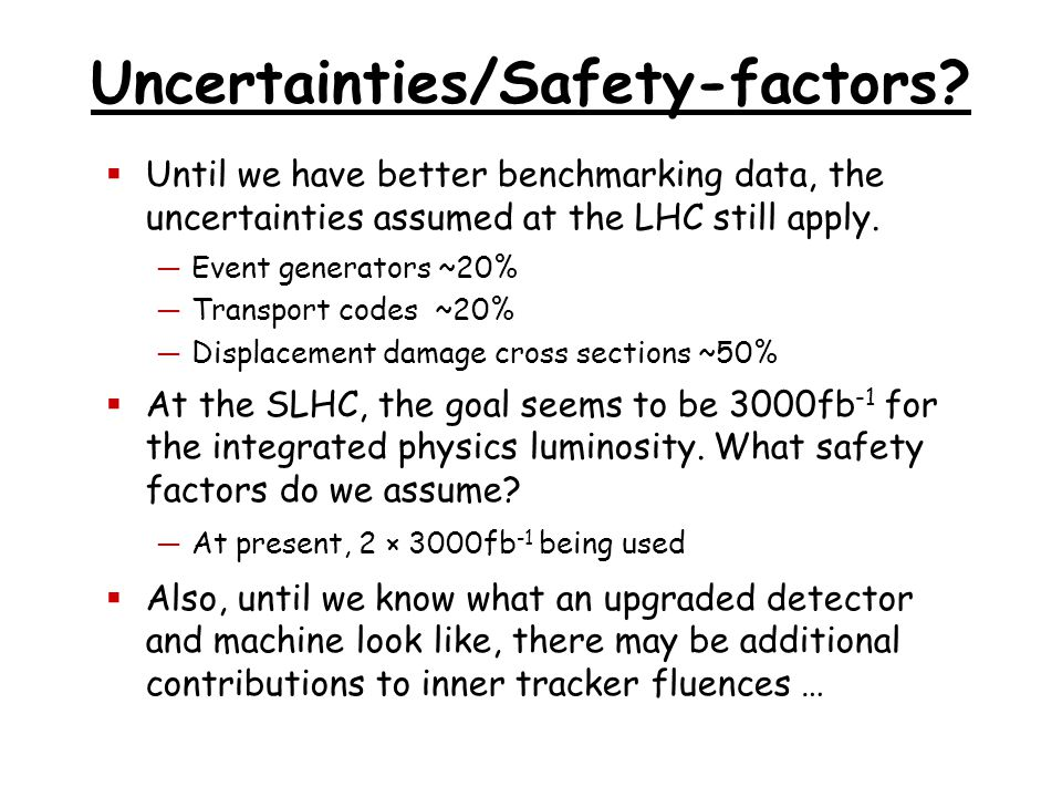 Uncertainties/Safety-factors