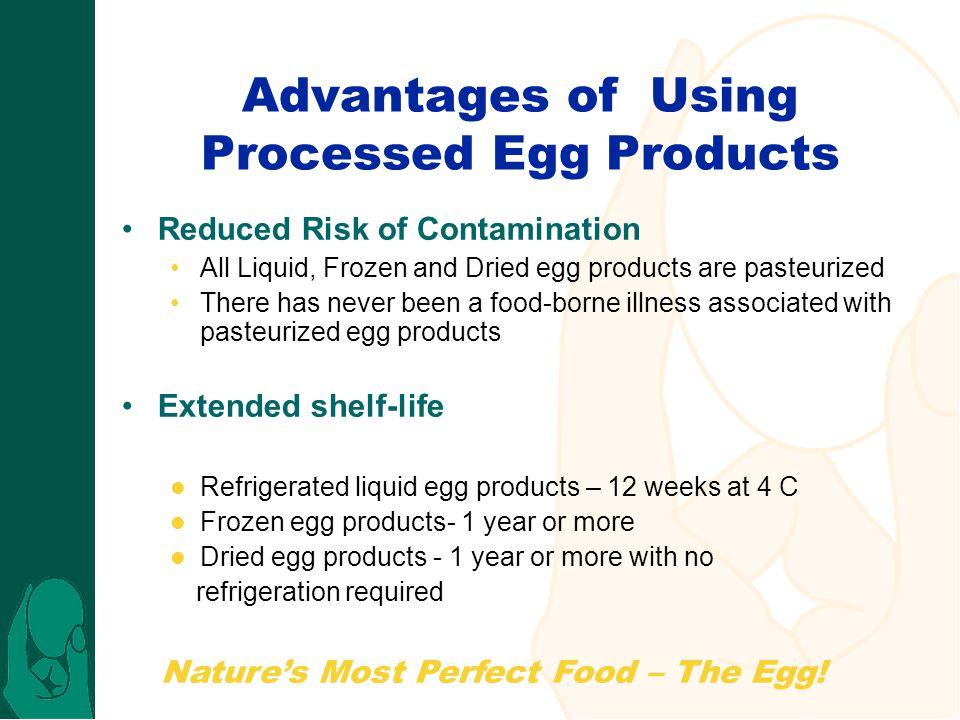 Advantages of Using Processed Egg Products