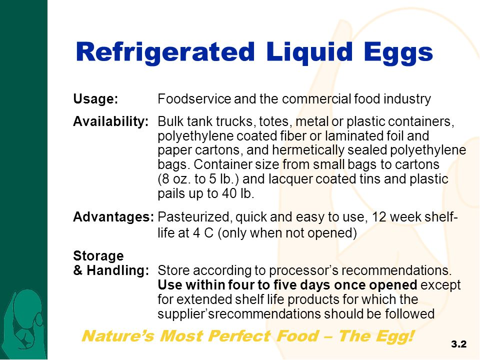 Refrigerated Liquid Eggs