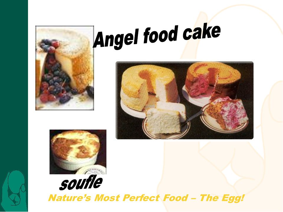 Angel food cake soufle