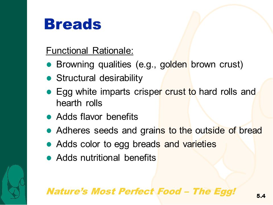 Breads Functional Rationale: