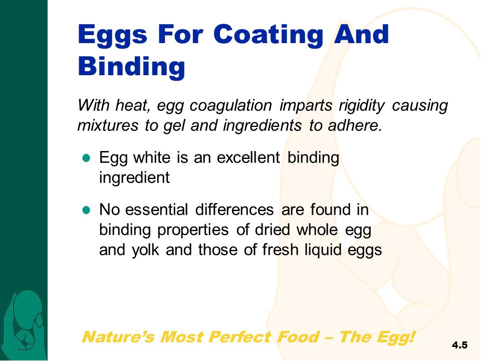 Eggs For Coating And Binding