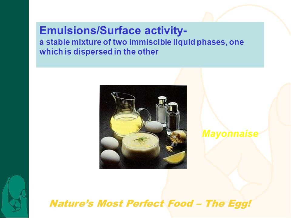 Emulsions/Surface activity-