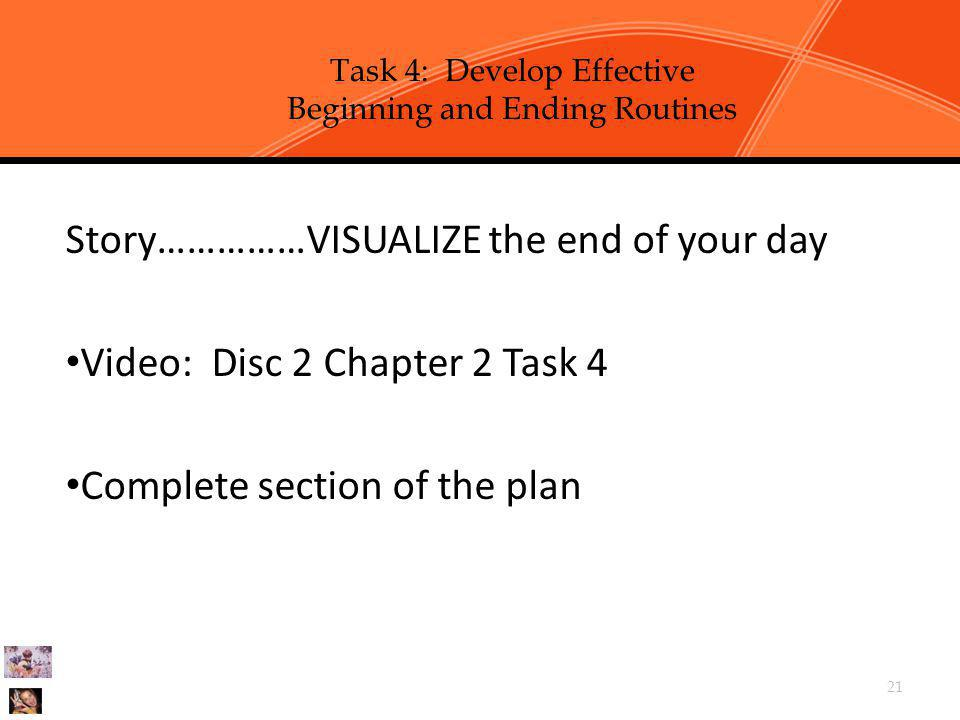 Task 4: Develop Effective Beginning and Ending Routines
