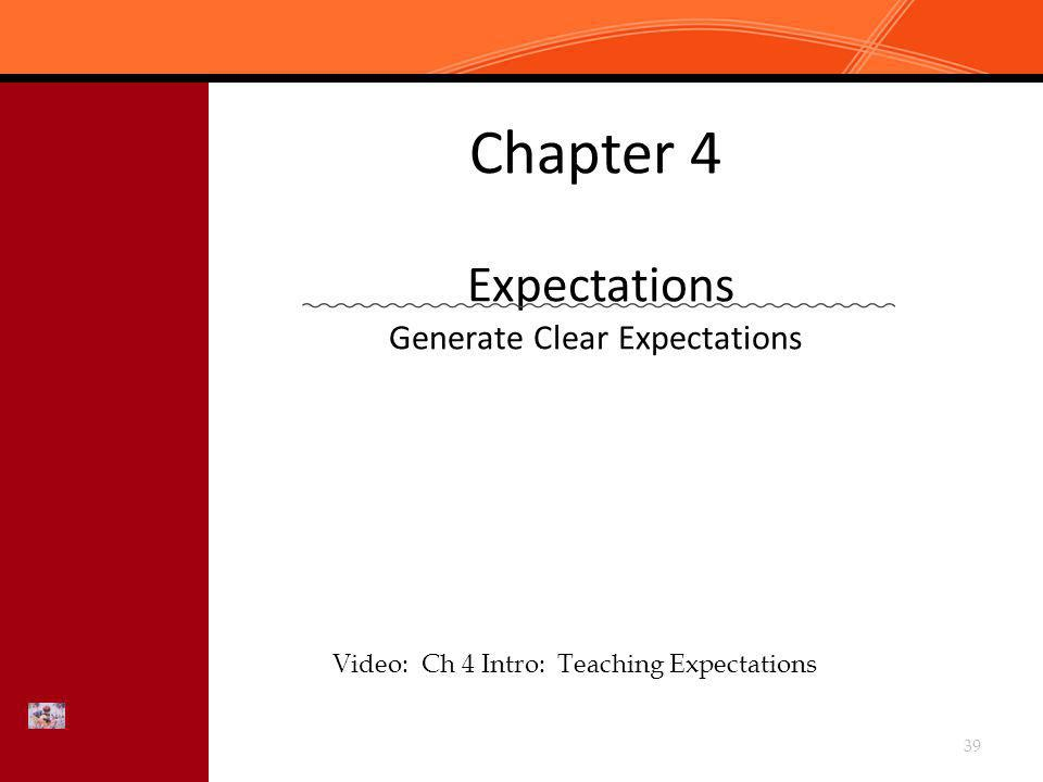 Chapter 4 Expectations Generate Clear Expectations