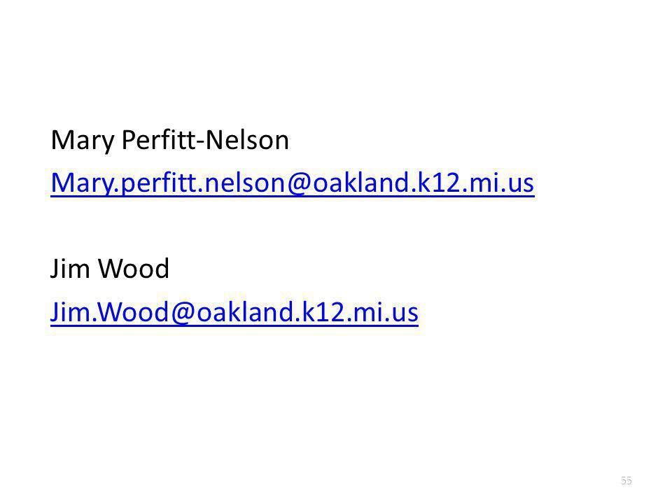 Mary Perfitt-Nelson Mary. perfitt. nelson@oakland. k12. mi