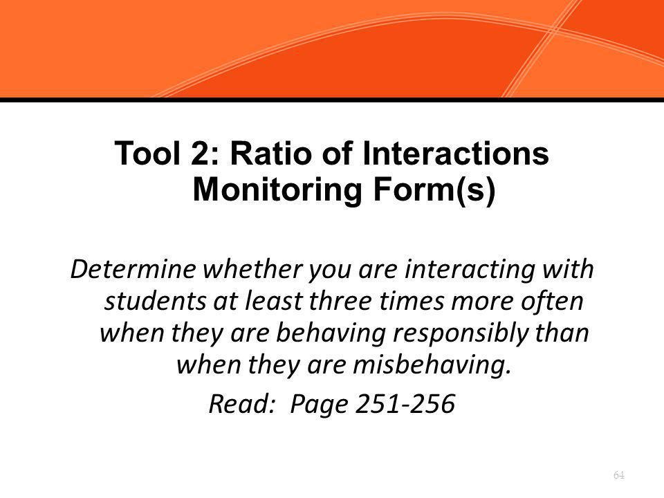 Tool 2: Ratio of Interactions Monitoring Form(s)