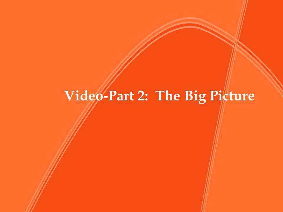 Video-Part 2: The Big Picture