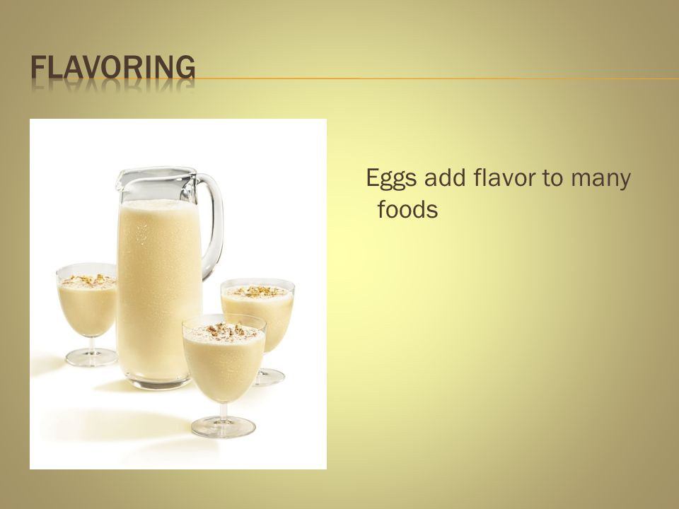 Flavoring Eggs add flavor to many foods