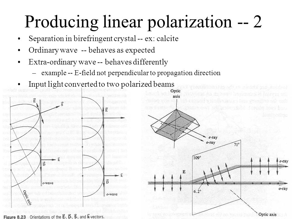 Producing linear polarization -- 2