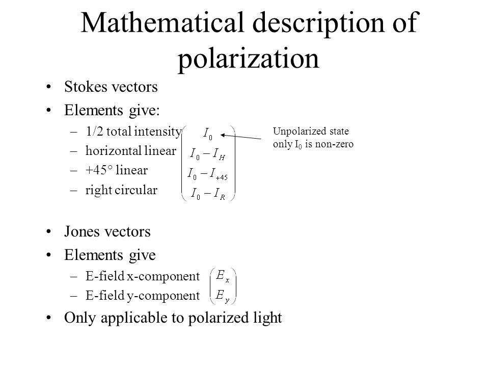 Mathematical description of polarization