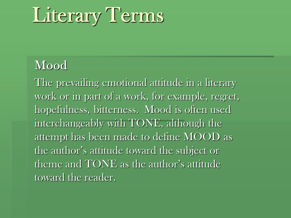 Literary Terms Mood.