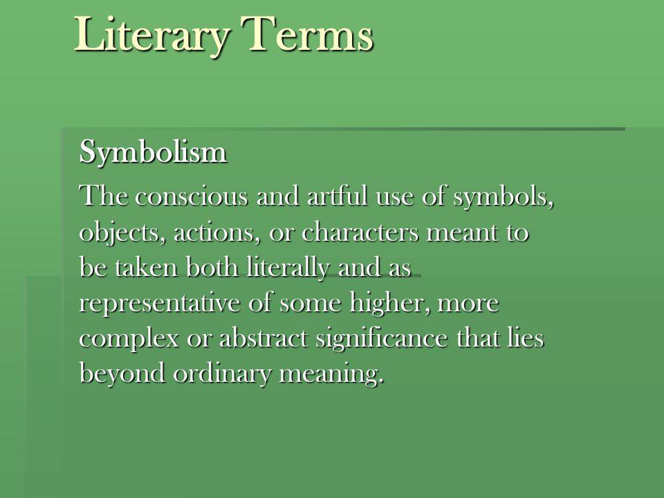 Literary Terms Symbolism
