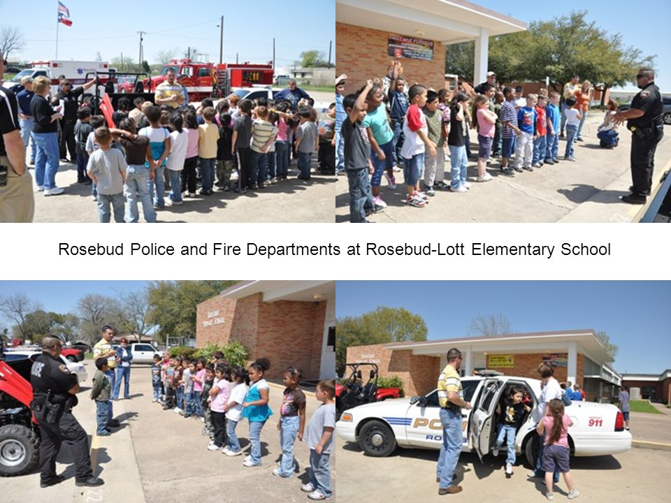 Rosebud Police and Fire Departments at Rosebud-Lott Elementary School
