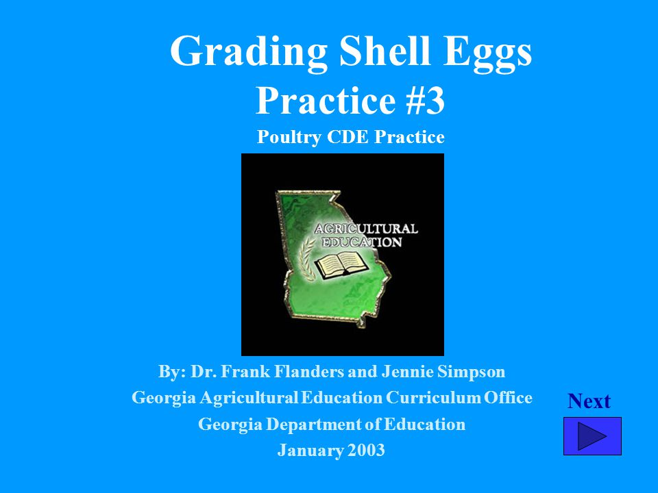 Grading Shell Eggs Practice #3 Poultry CDE Practice