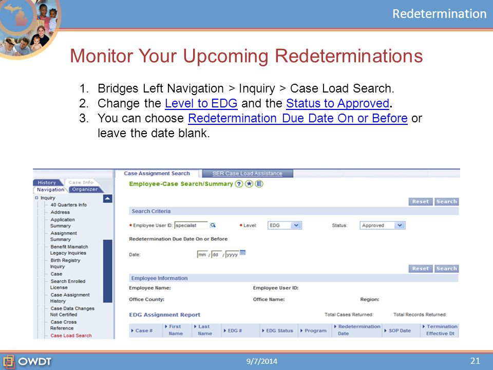 Monitor Your Upcoming Redeterminations