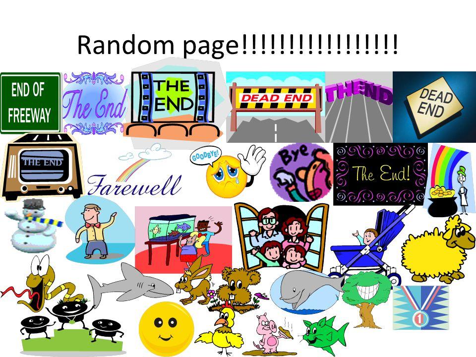 Random page!!!!!!!!!!!!!!!!!