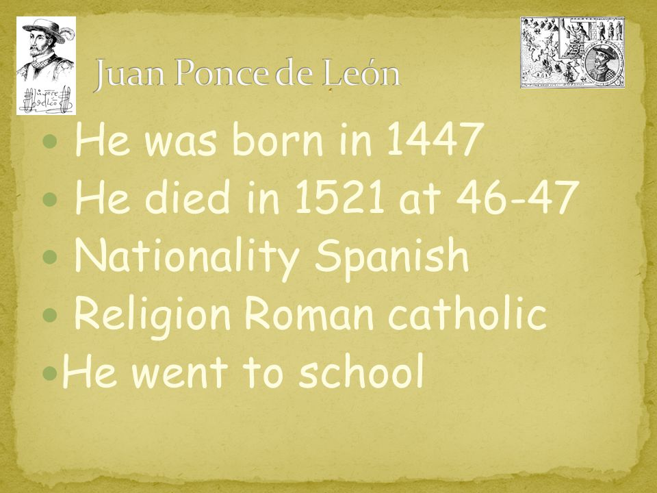 Religion Roman catholic He went to school