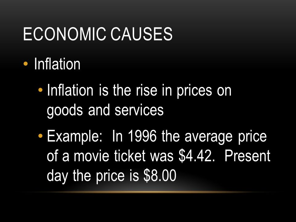 Economic Causes Inflation