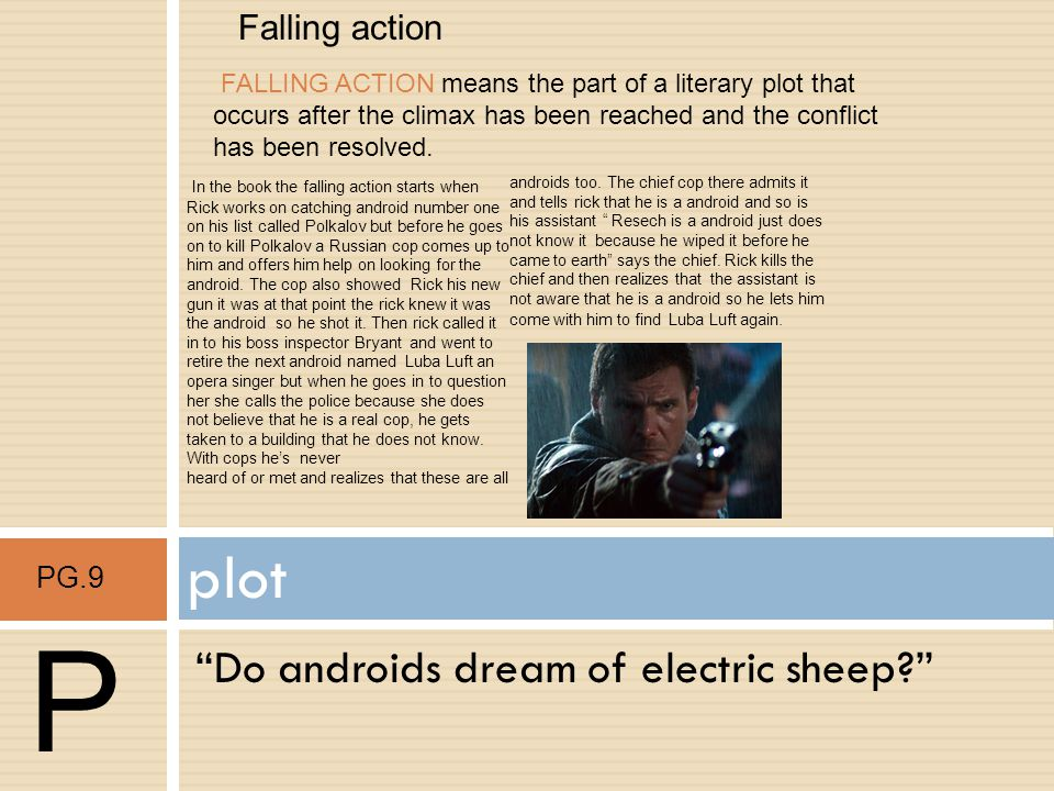P plot Do androids dream of electric sheep Falling action