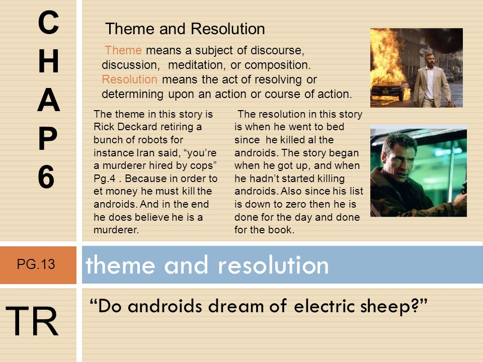 TR C H A P 6 theme and resolution
