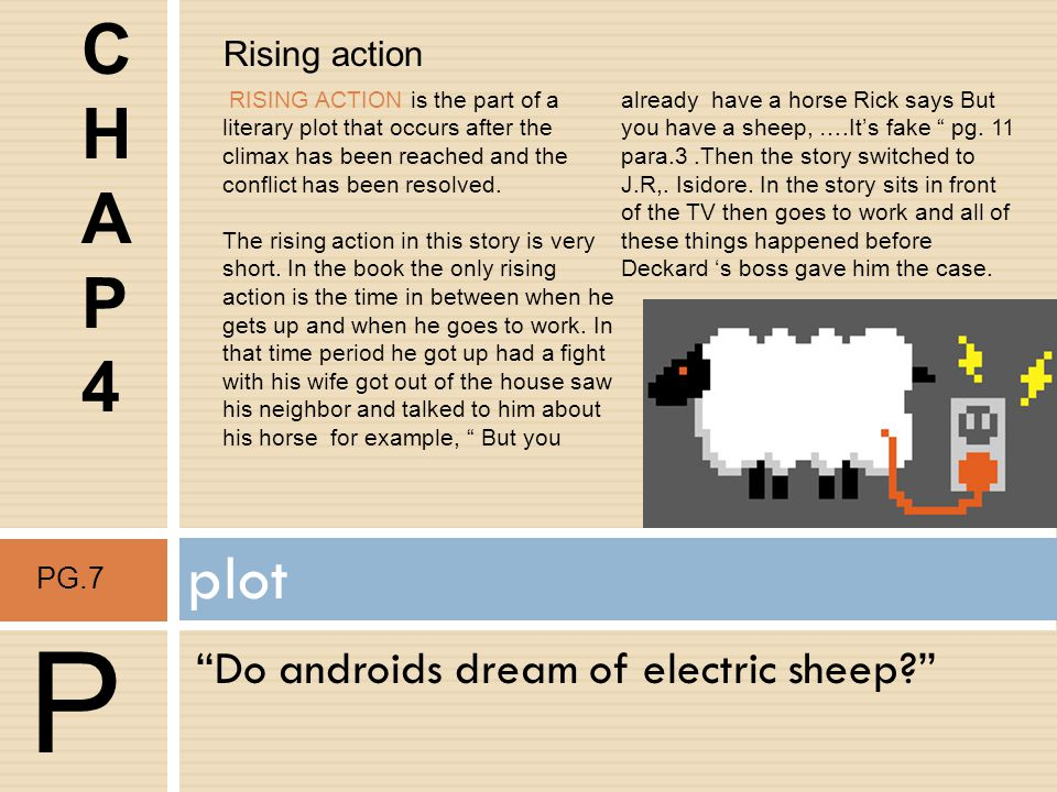 P C H A P 4 plot Do androids dream of electric sheep Rising action