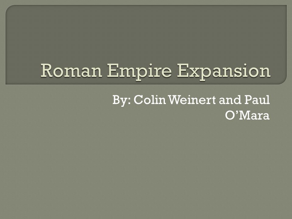 Roman Empire Expansion