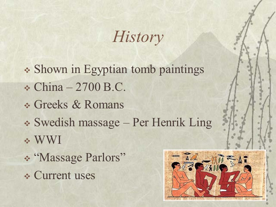 History Shown in Egyptian tomb paintings China – 2700 B.C.