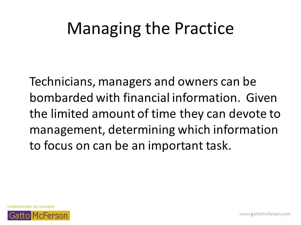 Managing the Practice