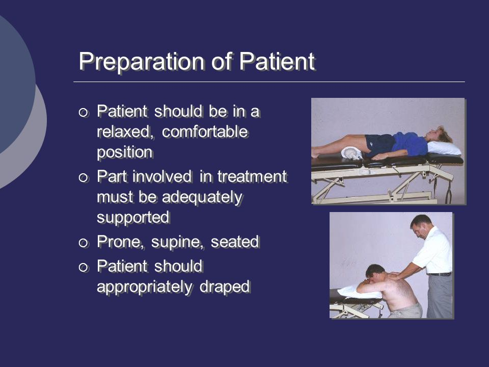 Preparation of Patient
