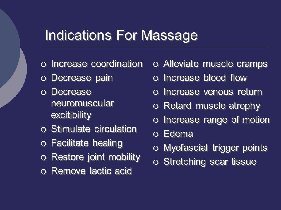 Indications For Massage