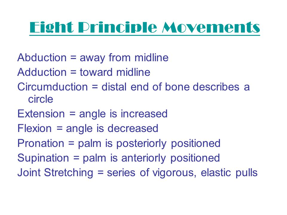 Eight Principle Movements
