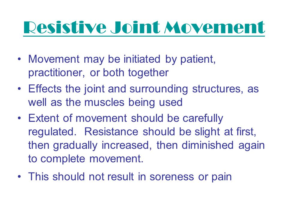 Resistive Joint Movement