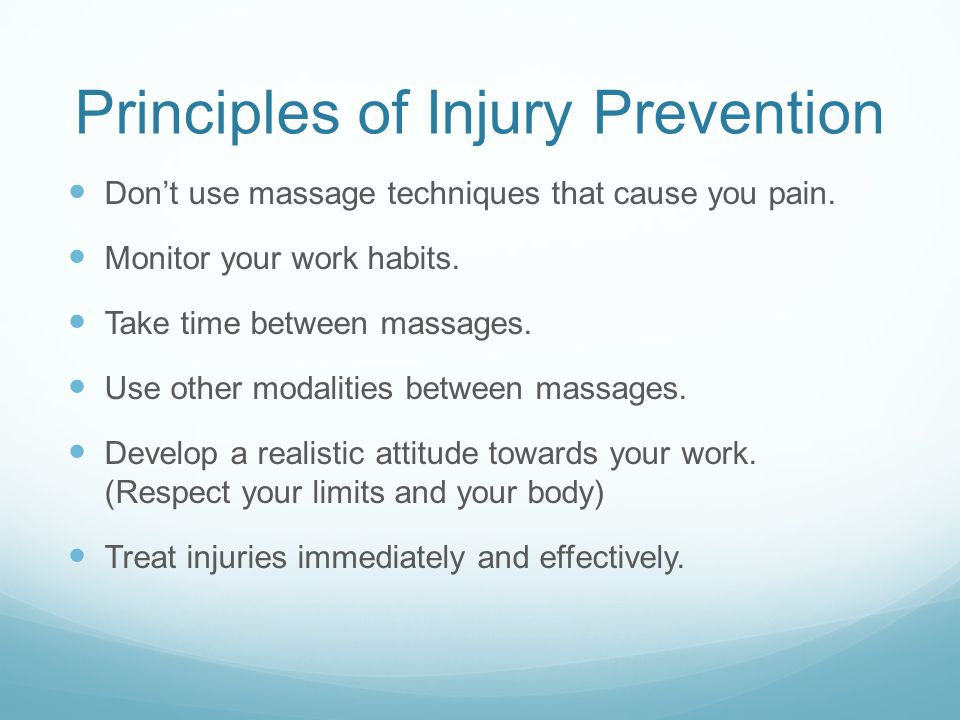 Principles of Injury Prevention