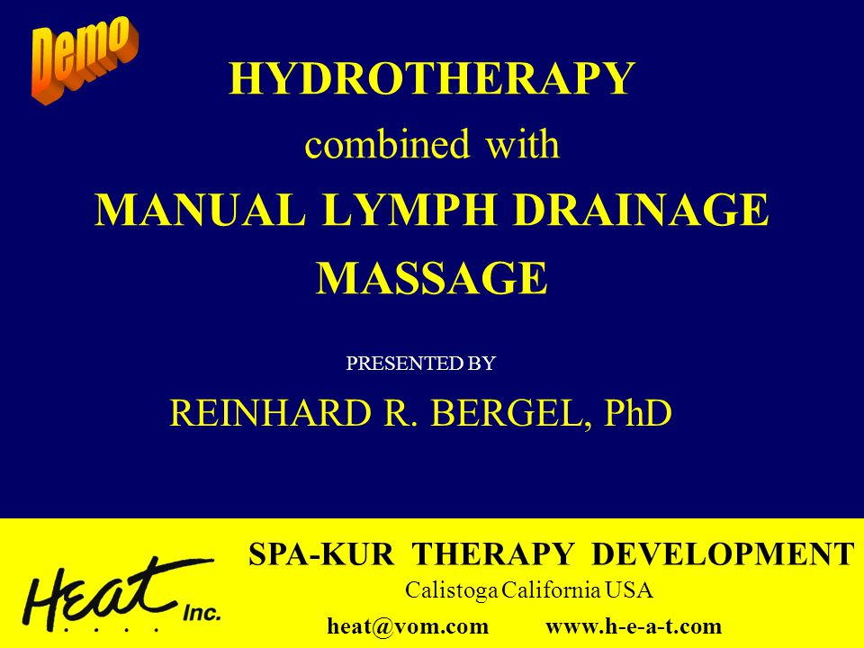 HYDROTHERAPY combined with MANUAL LYMPH DRAINAGE MASSAGE