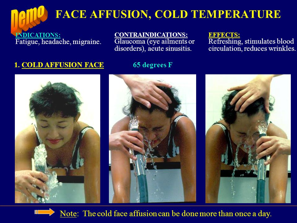 FACE AFFUSION, COLD TEMPERATURE