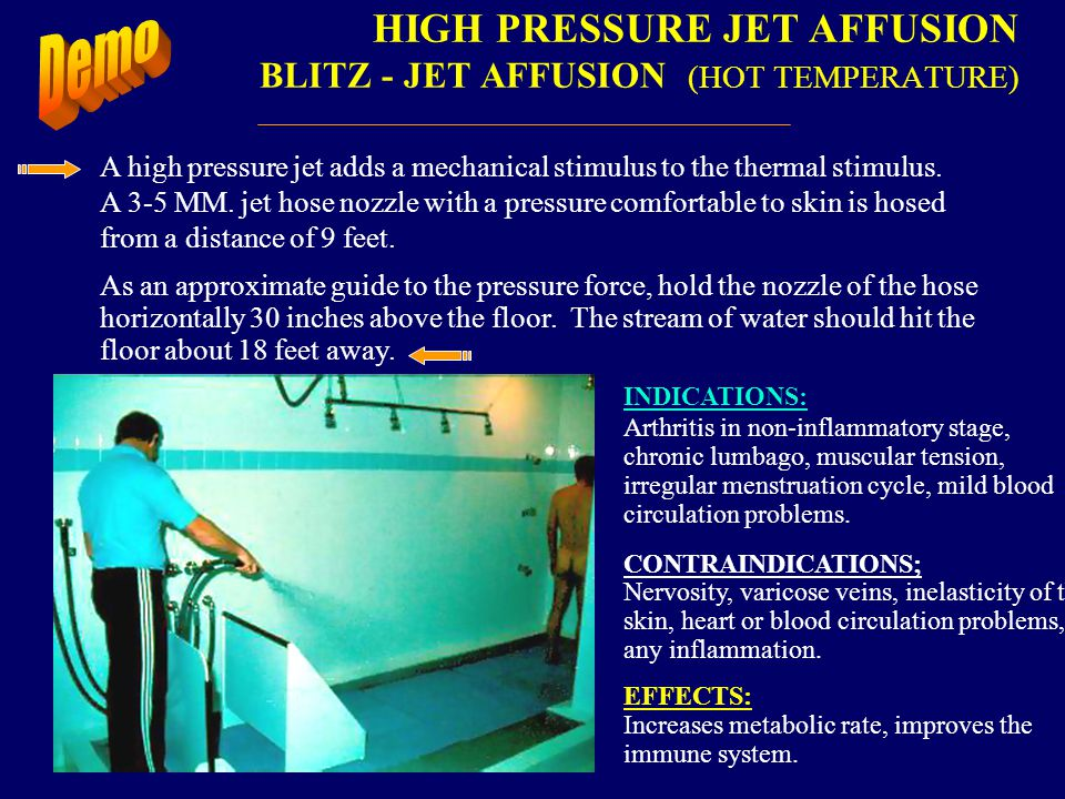 HIGH PRESSURE JET AFFUSION BLITZ - JET AFFUSION (HOT TEMPERATURE)