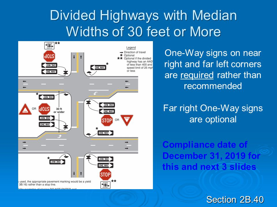Divided Highways with Median Widths of 30 feet or More